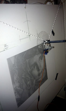 the drawbot running